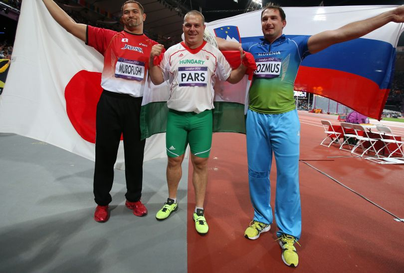 Medaliści konkursu rzutu młotem (fot. Getty Images)