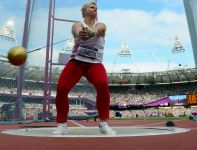 Anita Włodarczyk miała najlepszy wynik eliminacji i awansowała do finału rzutu młotem (fot. Getty Images)