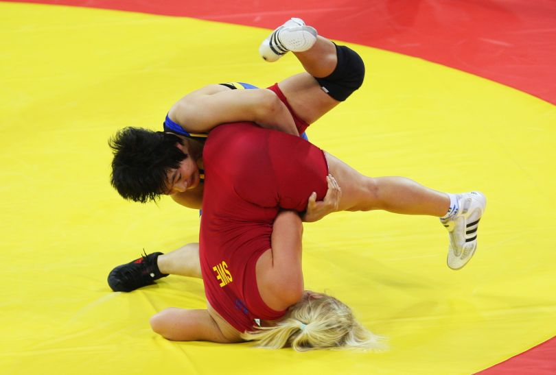 Jenny Fransson i Wang Jiao (fot. Getty Images)