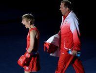 Pięściarka Paco Lublin wchodzi na ring (fot. PAP/Bartłomiej Zborowsk)