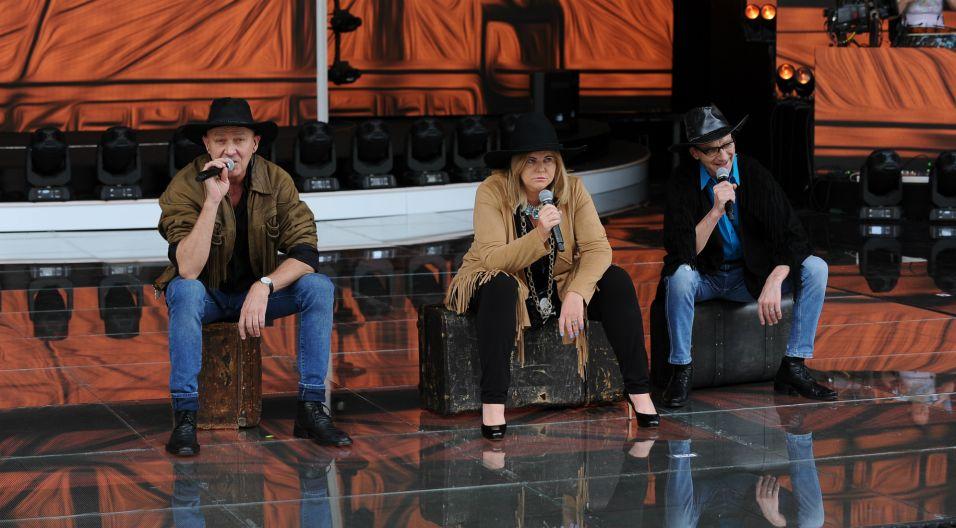 Do występu przygotowuje się także wyjątkowe aktorskie trio z Joanną Kurowską, Grzegorzem Kuciasem oraz Stefanem Każuro w składzie (fot. N. Młudzik/TVP)
