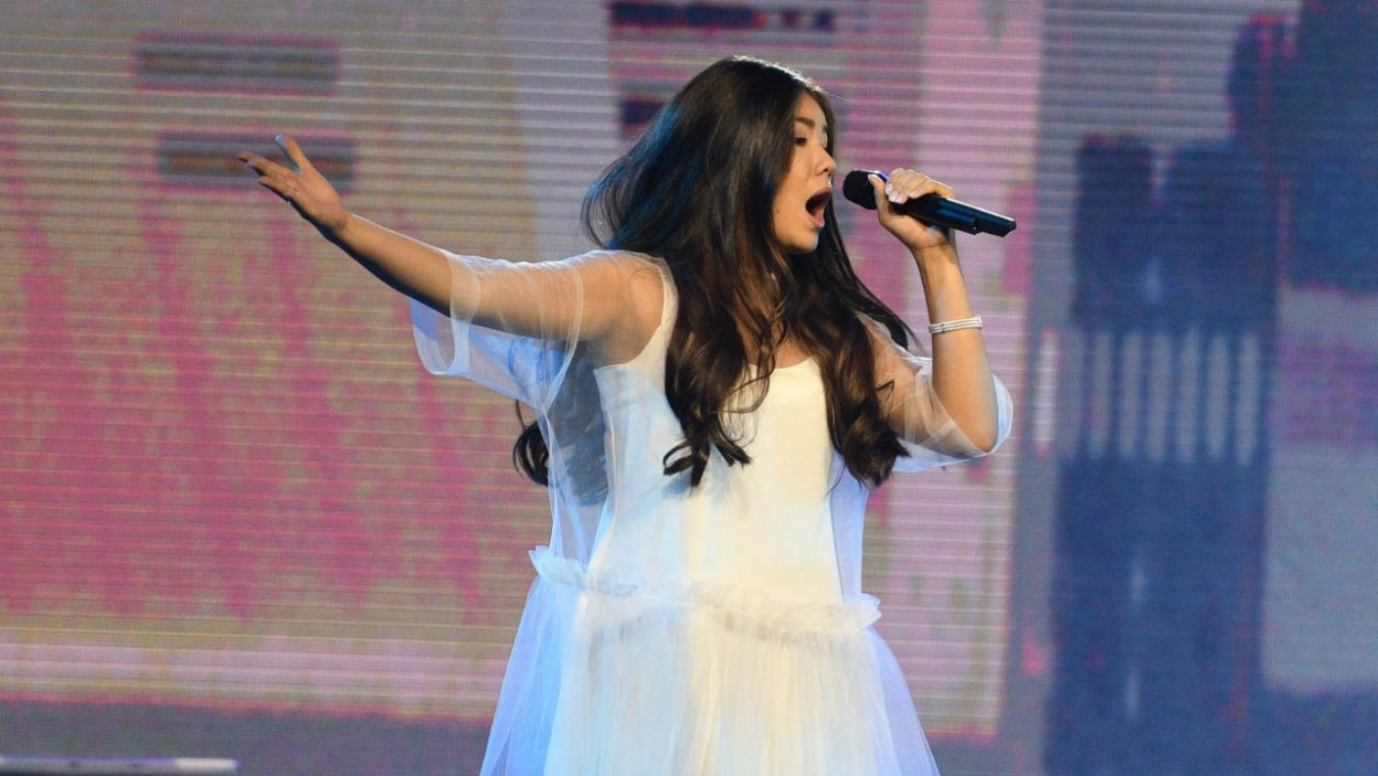 """Rosję reprezentowała 14-letnia Polina Bogusevich z piosenką """"Wings"""" (fot. Getty Images)"""