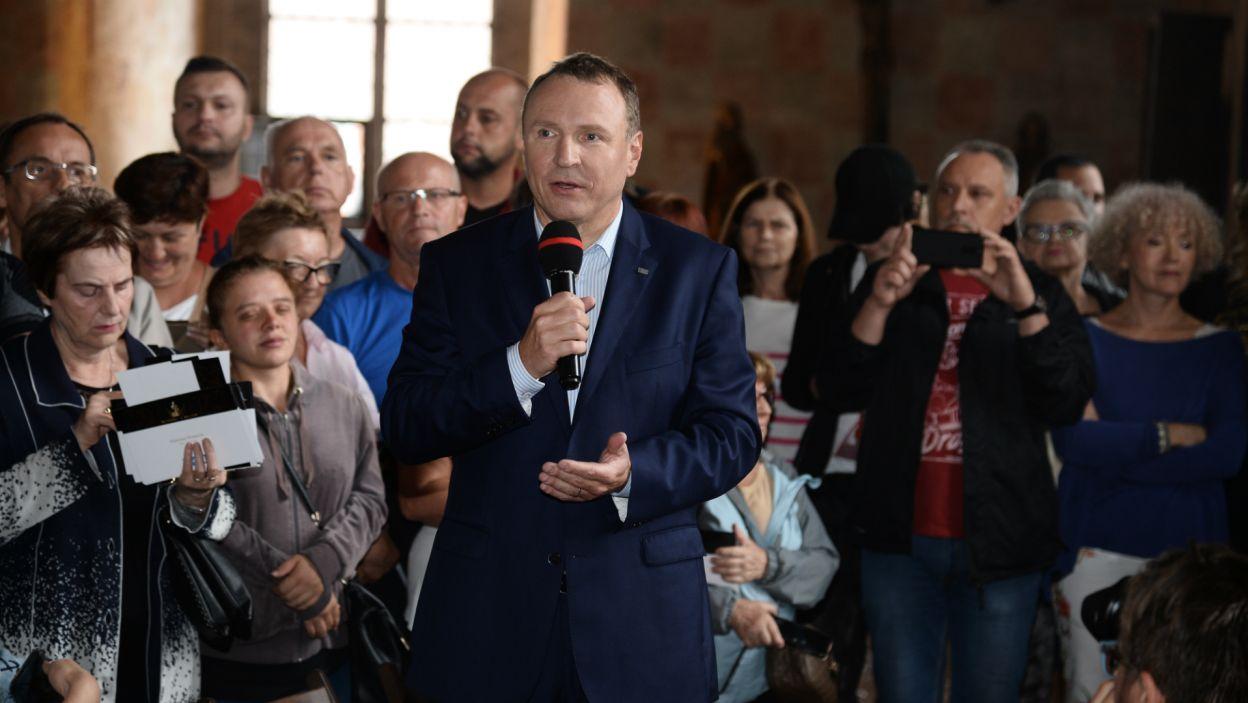 Piknik zaszczycił swoją obecnością również prezes Telewizji Polskiej Jacek Kurski (fot. J. Bogacz/TVP)