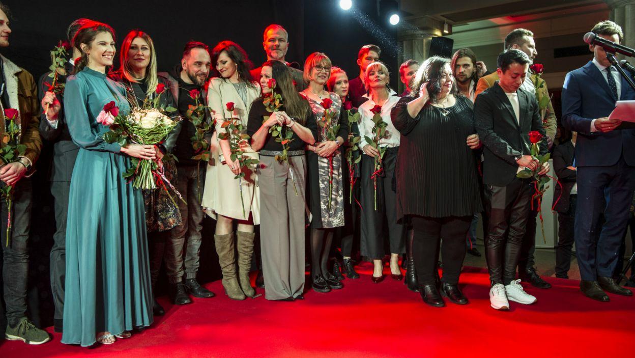 Na premierze obecni byli aktorzy oraz twórcy filmu (fot. N. Młudzik/TVP)