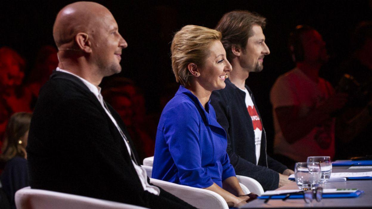 Jury zadecydowało, że o zwycięstwo będą walczyć Julia Ciesielska i Kasper Górczak (fot. N. Młudzik/TVP)