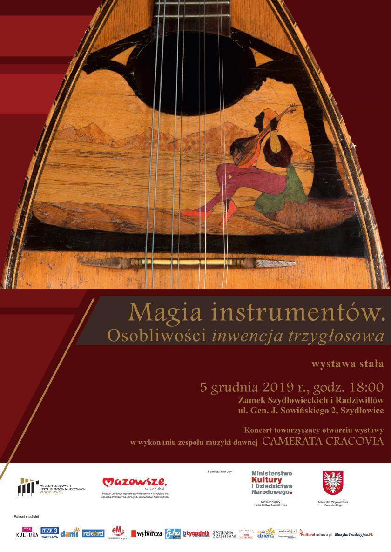 """Wystawa stała """"<i>Magia instrumentów</i>. Osobliwości<i>inwencja trzygłosowa</i>""""."""