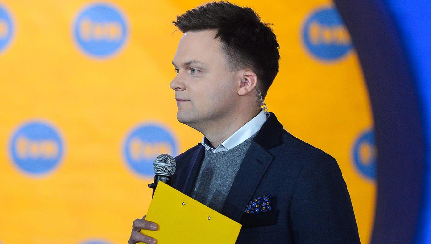 Wiceminister obrony narodowej Wojciech Skurkiewicz przekonuje, że Szymon Hołownia to kandydat na prezydenta partii TVN (fot. arch. PAP/Stach Leszczyński)