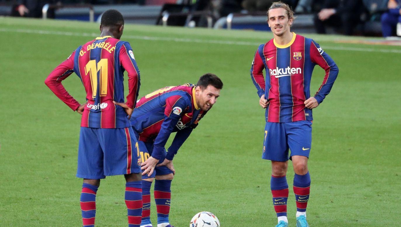 Ousmane Dembele, Leo Messi, Antoine Griezmann (fot. Getty Images)