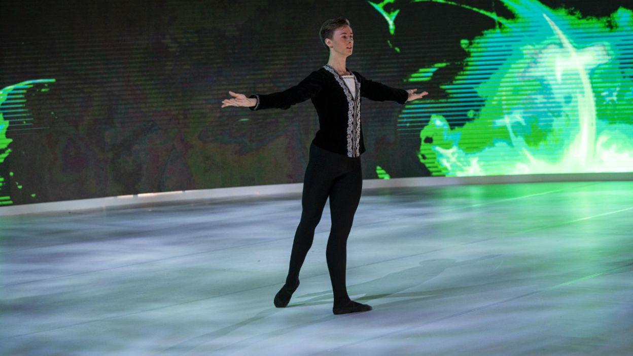– Nie zbaczaj z tej drogi – Jacek Przybyłowicz miał jedną radę dla młodego tancerza (fot. N. Młudzik/TVP)