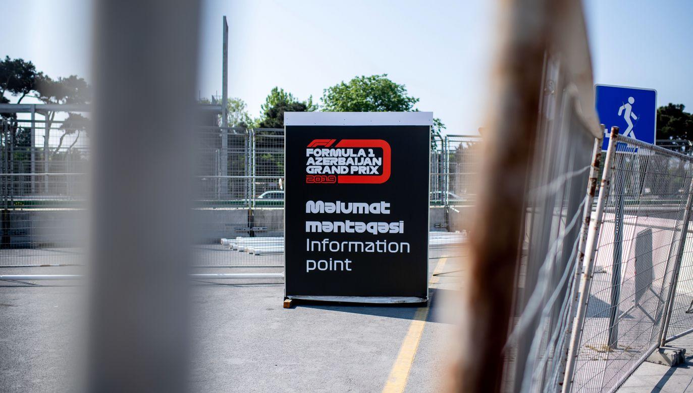Zaplanowany na 7 czerwca wyścig Formuły 1 o Grand Prix Azerbejdżanu zostanie przełożony z powodu pandemii koronawirusa(fot. Thomas Eisenhuth/Getty Images)