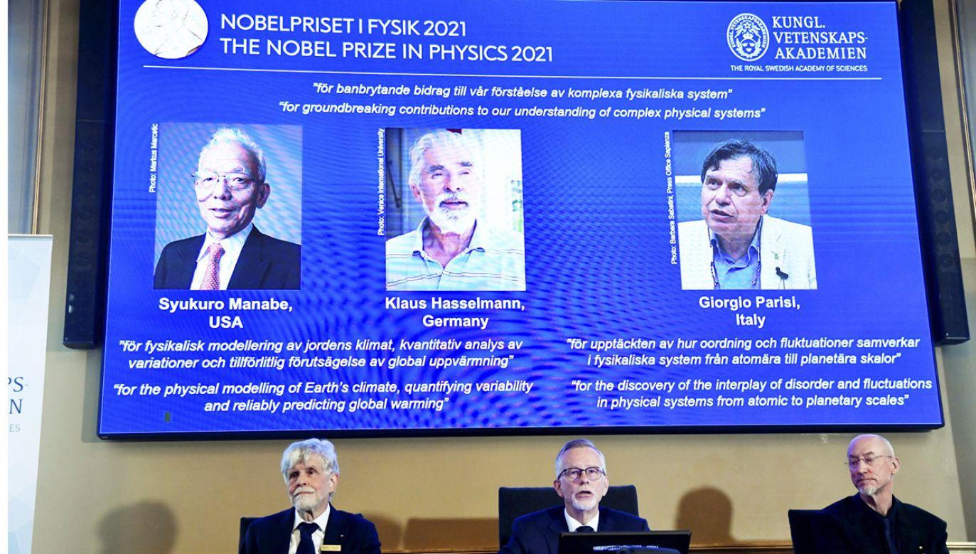 Noble z fizyki 2021 (fot. PAP/EPA/Pontus Lundahl)
