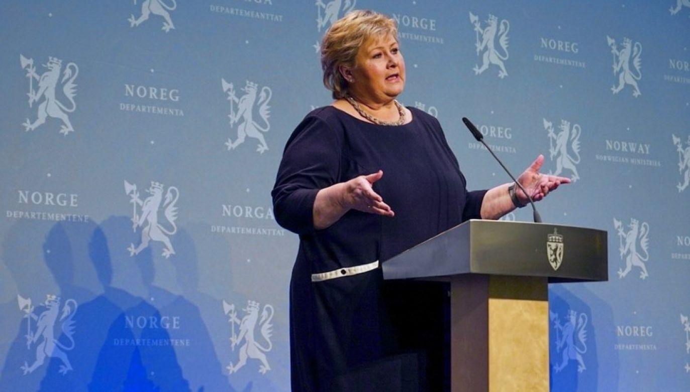 Erna Solberg przeprosiła za swoje zachowanie (fot. Biuro premiera Norwegii)