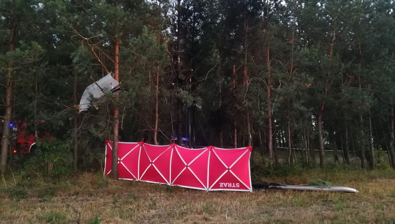 Sprawę bada policja i prokuratura (fot. FB/Ochotnicza Straż Pożarna w Siennicy)