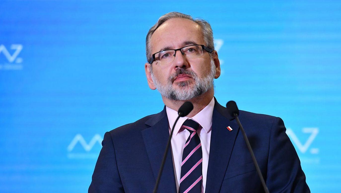 Szef resortu zdrowia o rozwoju pandemii (fot.  PAP/Piotr Nowak)