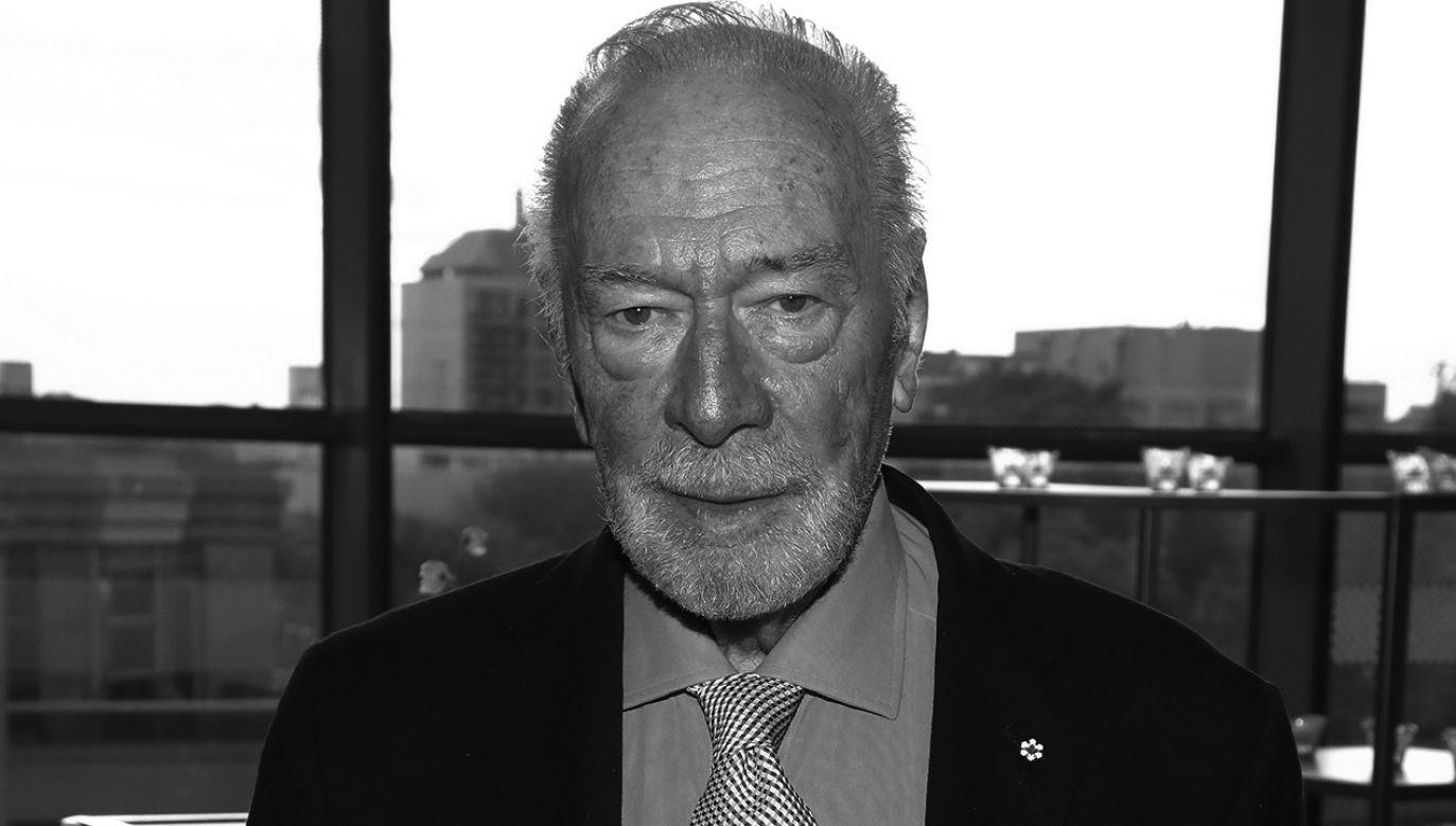 Christopher Plummer zmarł w wieku 91 lat (fot. Jemal Countess/Getty Images)