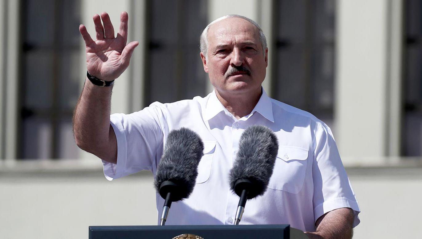 Prezydent Białorusi Alaksandr Łukaszenka (fot. Valery Sharifulin\TASS via Getty Images)