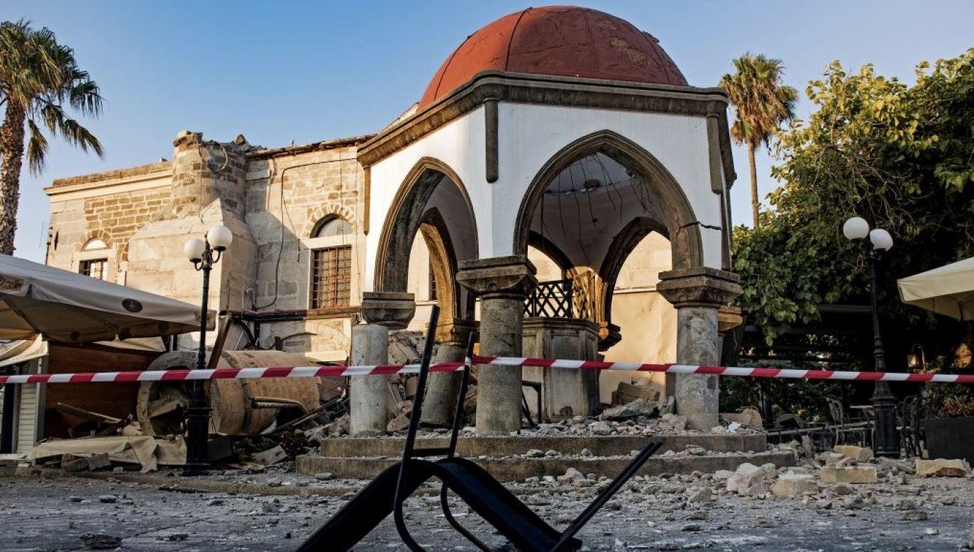 Grecja leży na głównych uskokach geologicznych i trzęsienia ziemi są tam częste, choć przeważnie bez ofiar (fot. Anna Daverio/Anadolu Agency/Getty Images, zdjęcie ilustracyjne)