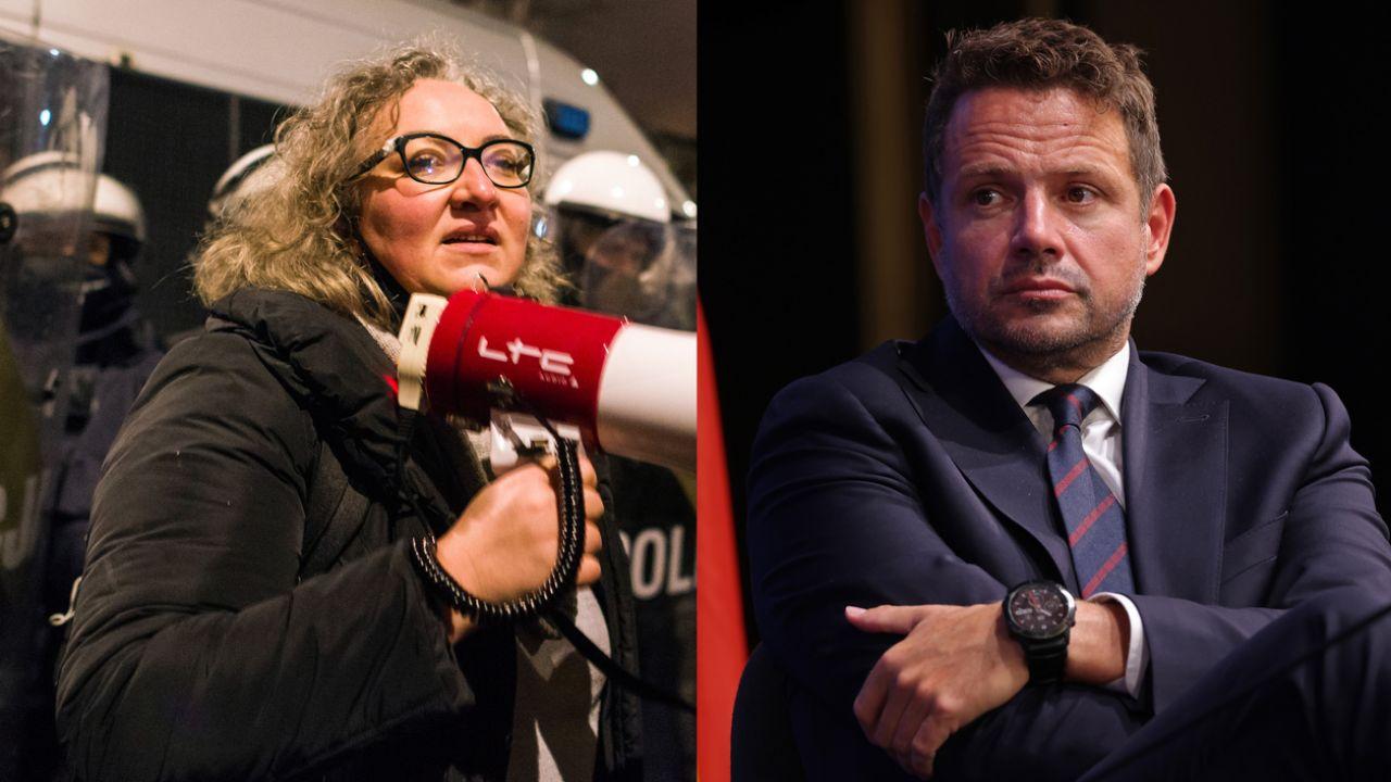 Marta Lempart i Rafał Trzaskowski (fot. Attila Husejnow//LightRocket via Getty Images, Sean Gallup/Getty Images))