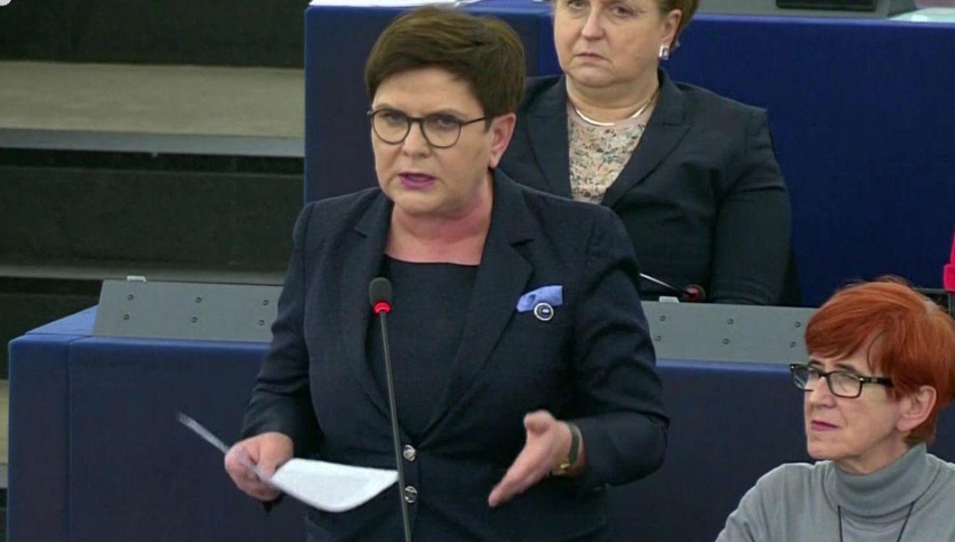 Przeciwko mnie nie toczą się żadne postępowania sądowe – przypomniała była premier (fot. TVP Info)