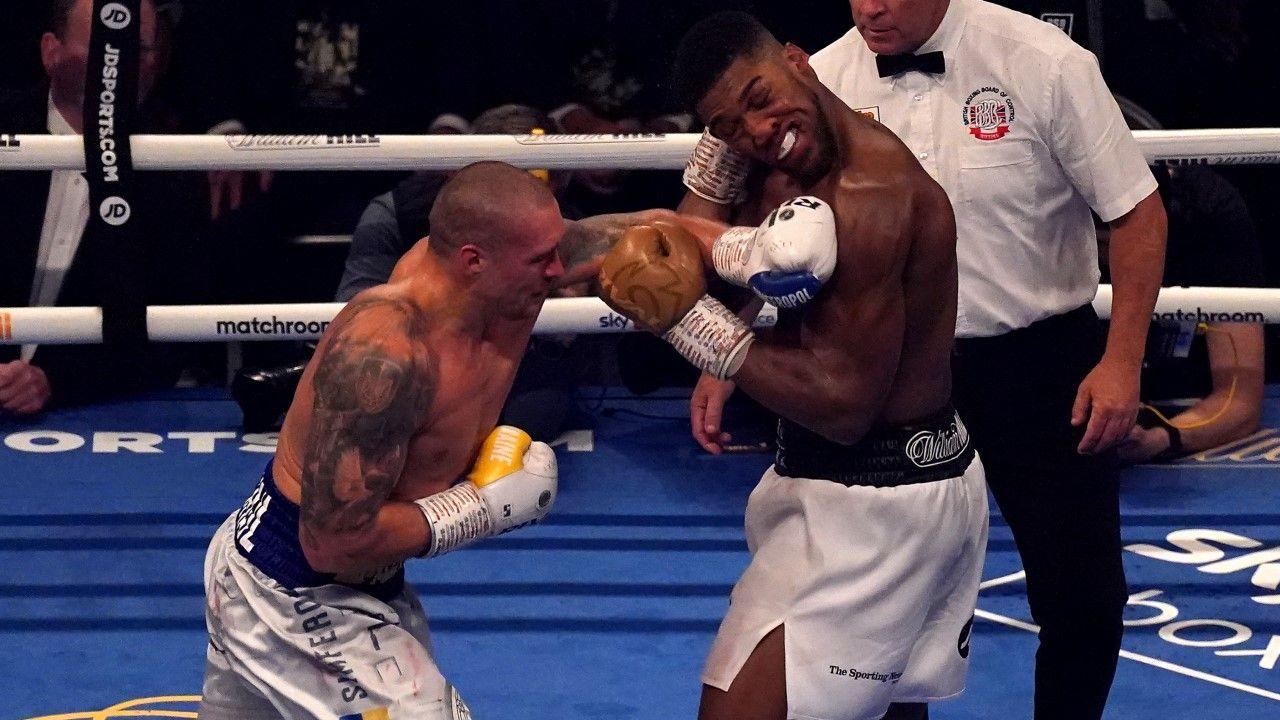 Usyk i Joshua walczyli o tytuły mistrzowskie WBO, IBF i WBA (fot. Nick Potts/PA Images via Getty Images)