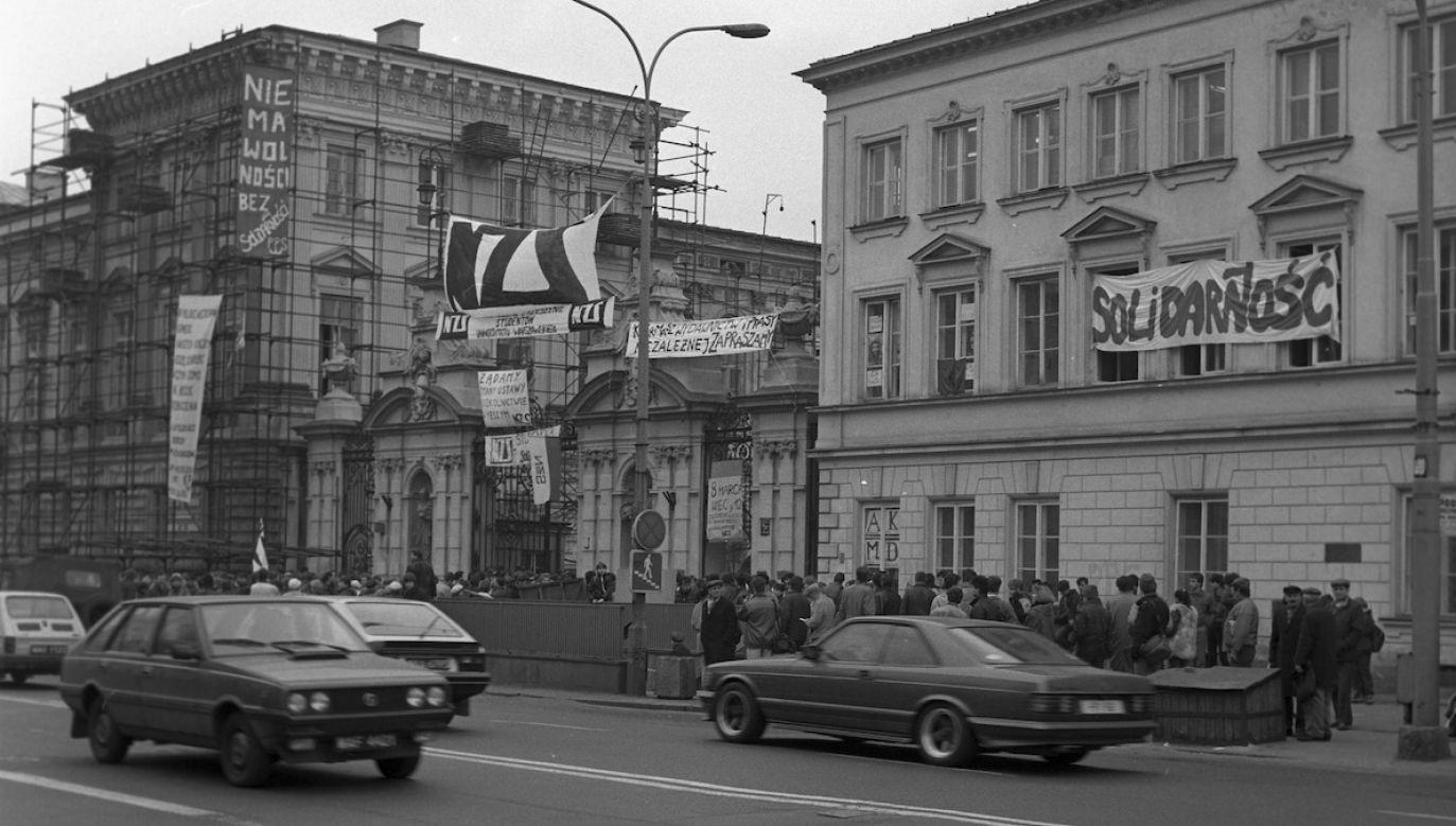 Dzisiaj mija 40. rocznica powstania organizacji Niezależnego Zrzeszenia Studentów (fot. arch.PAP)