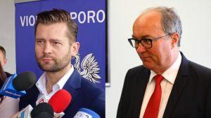 Lider Lewicy bronił działacza LGBT, który m.in. został sfilmowany podczas napaści na działacza pro-life (fot. Facebook/Kamil Bortniczuk; PAP/Rafał Guz)