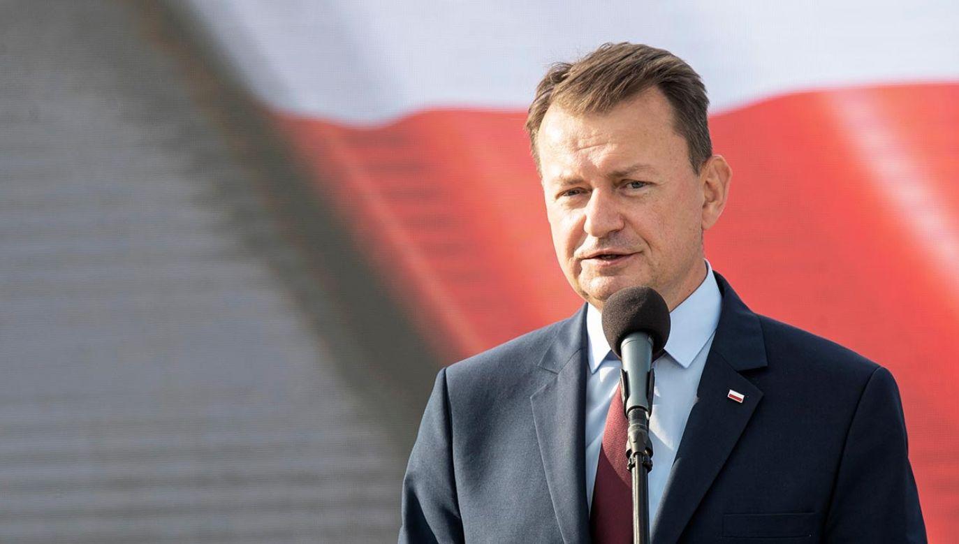 Szef MON Mariusz Błaszczak (fot.  PAP/Jacek Szydłowski)