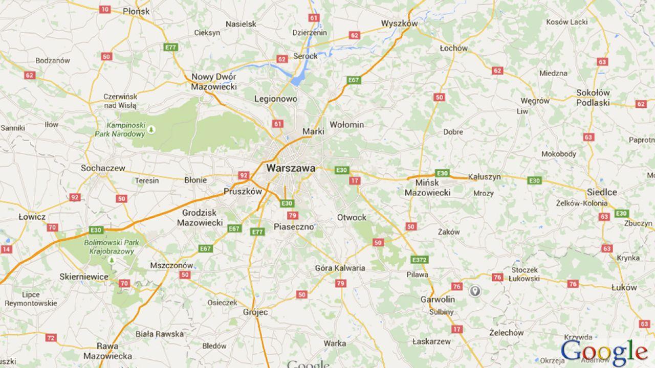 Wisła na chwilę zniknęła (fot. google.maps.pl)