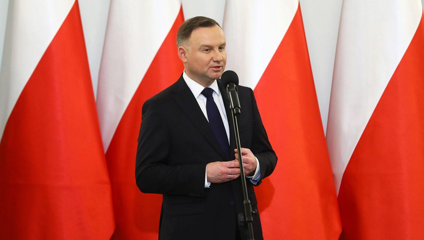 Andrzej Duda odpowiadał na pytania dotyczące kampanii wyborczej (fot. arch. PAP/Rafał Guz)