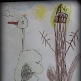 Rysunek Milenki Bator, 6 lat