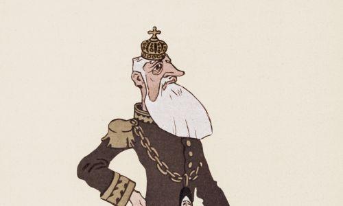 Niemiecka karykatura Leopolda II, ok. roku 1905. Fot. Stock Montage/Getty Images