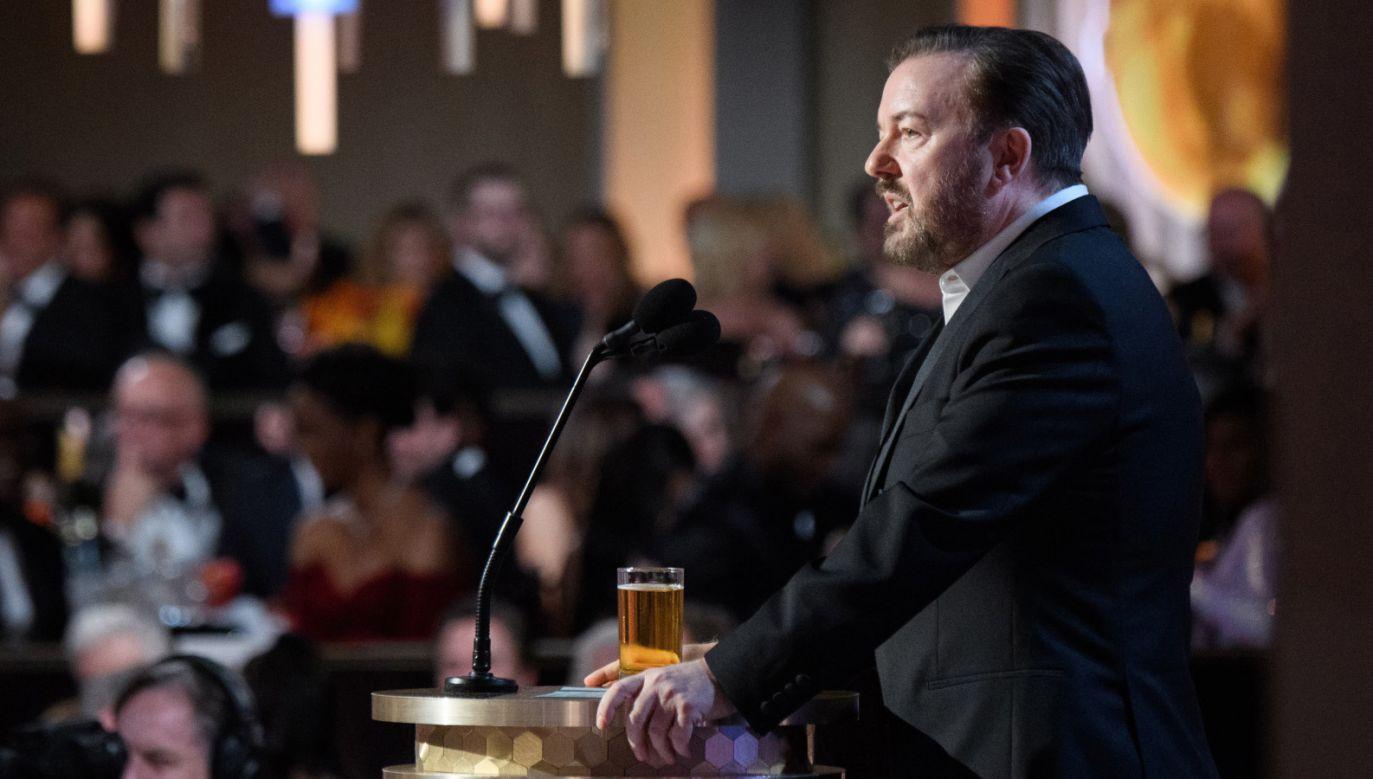 Galę prowadził brytyjski komik Ricky Gervais (fot. PAP/EPA/HFPA)