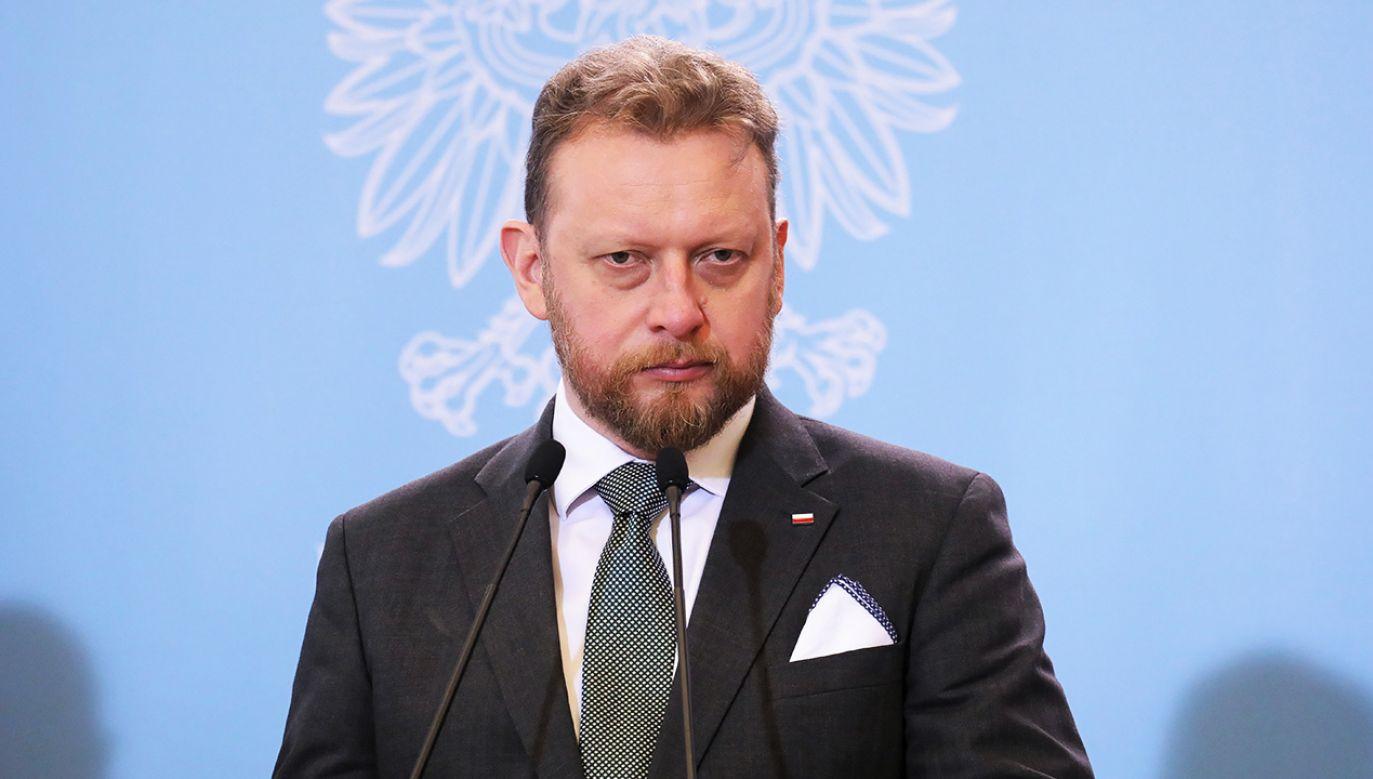 Min. Łukasz Szumowski swoje rekomendacje co do wyborów przedstawi nie wcześniej niż w drugiej połowie kwietnia  (fot. arch. PAP/Paweł Supernak)