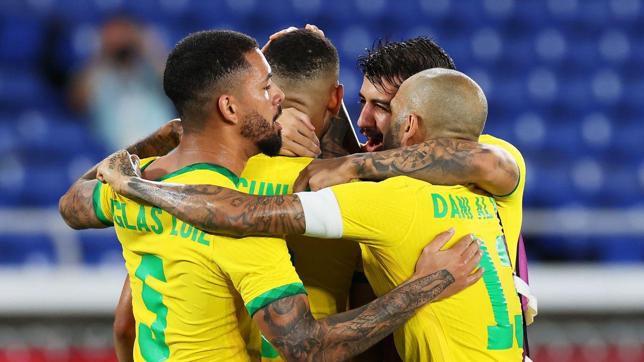 Piłkarze reprezentacji Brazylii (fot. Getty Images)
