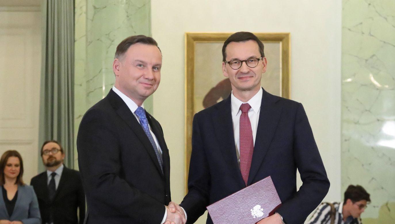 We wtorek Morawiecki złożył na ręce prezydenta dymisję swojego rządu (fot. PAP/Paweł Supernak)