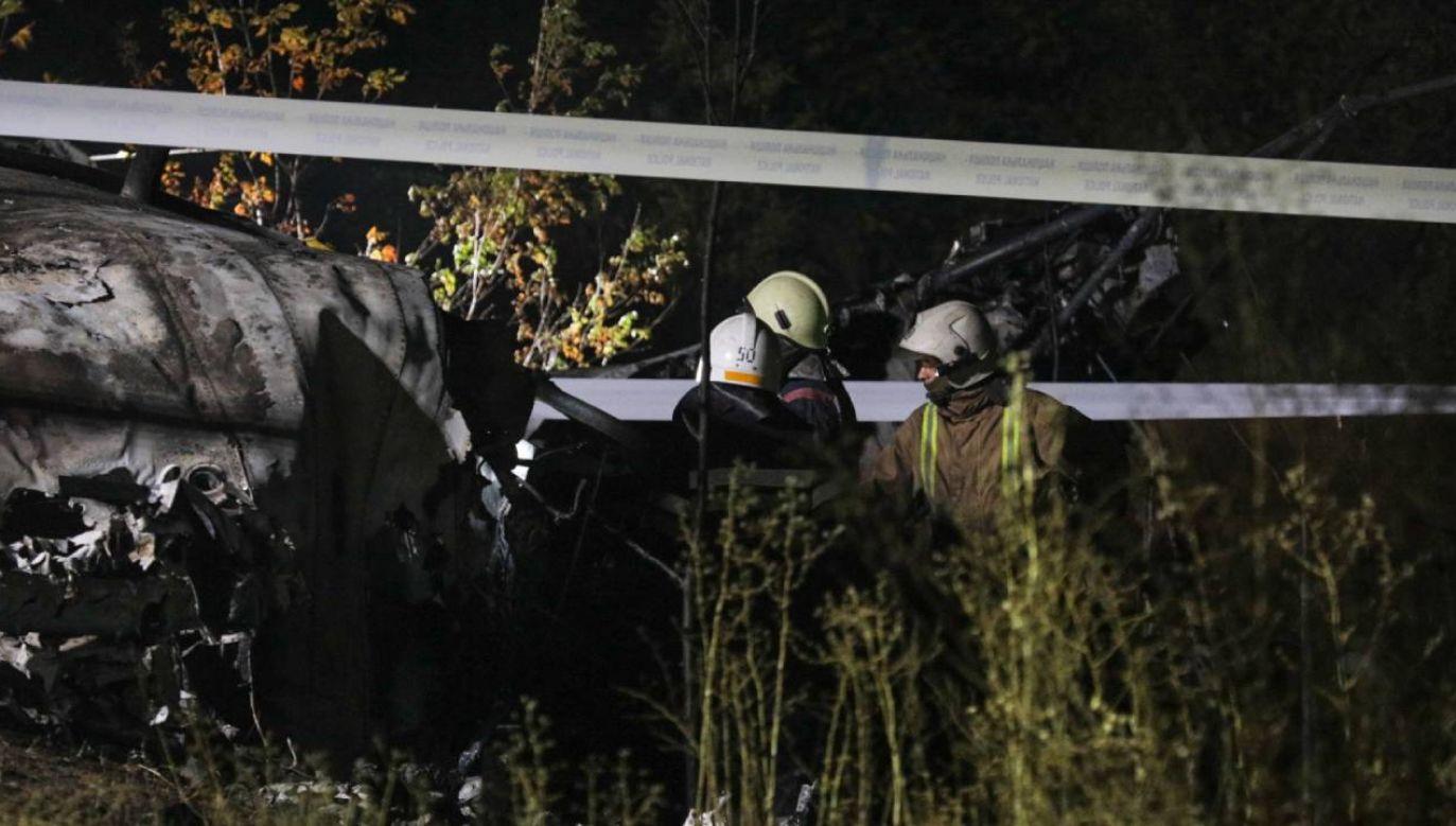 Do katastrofy samolotu doszło w piątek  wieczorem na Ukrainie  (fot. PAP/EPA/SERGEY KOZLOV)