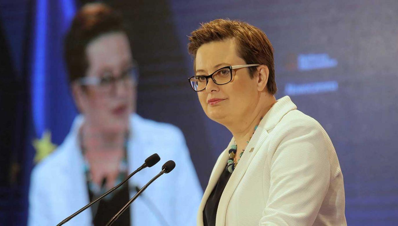 Katarzyna Lubnauer oceniła, że połączenie klubów Nowoczesnej i PO-KO zaczyna mieć sens (fot. arch. PAP/Wojciech Olkuśnik)