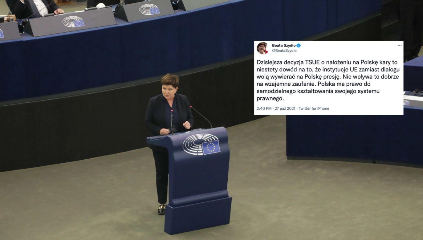 Europosłanka i była premier Beata Szydło o TSUE (fot. PAP/Albert Zawada)