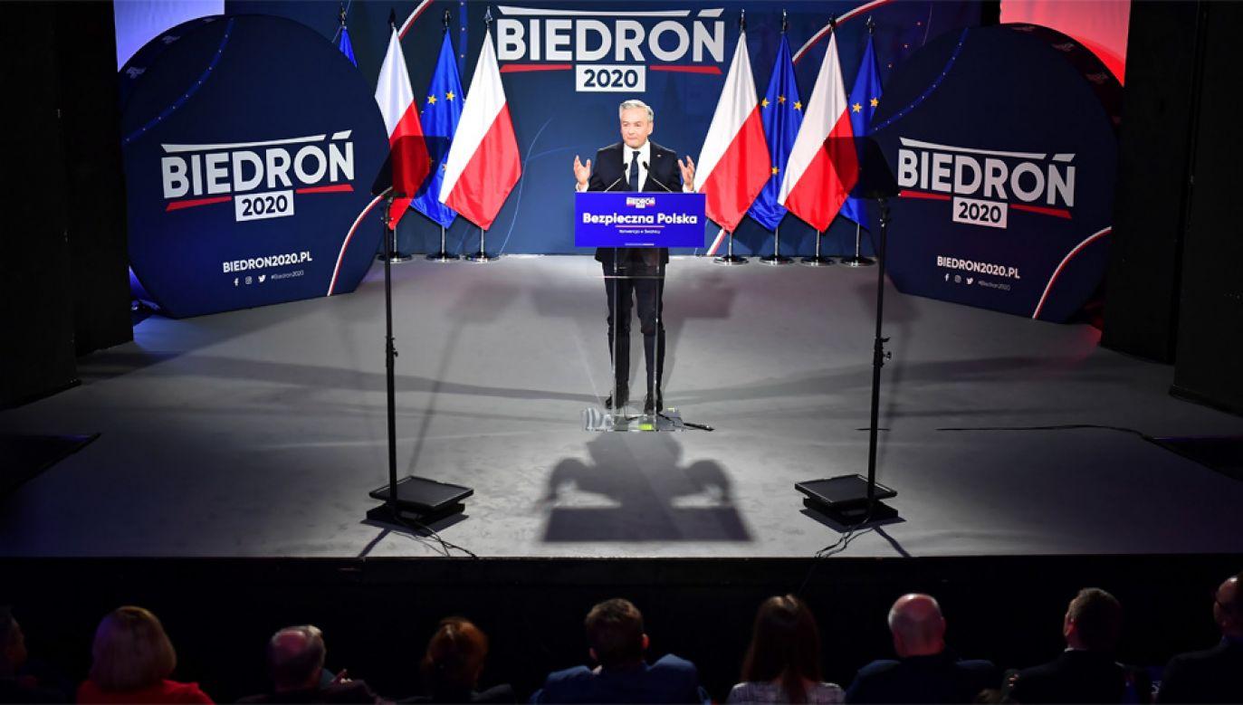 Robert Biedroń jest kandydatem Lewicy w wyborach prezydenckich (fot. PAP/Sebastian Borowski)