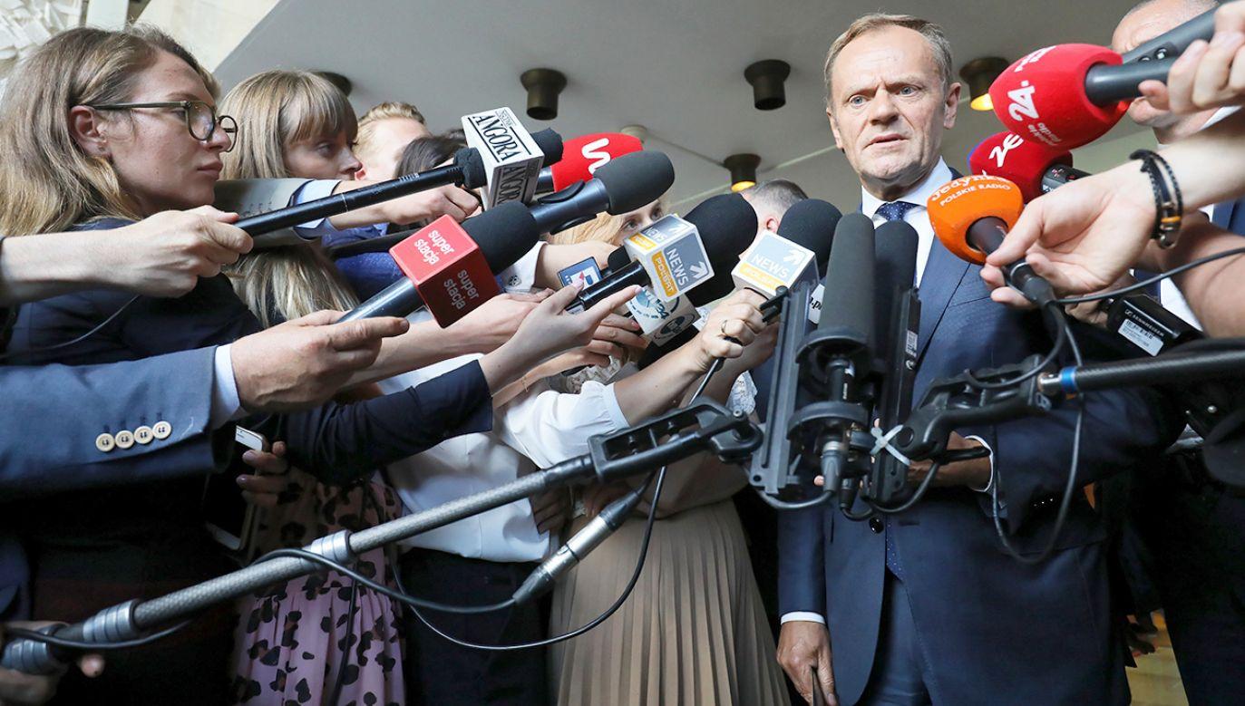 Grzegorz Schetyna nie ma zdaniem Michała Boniego tej siły przekonywania, co Jarosław Kaczyński (fot. PAP/Paweł Supernak)