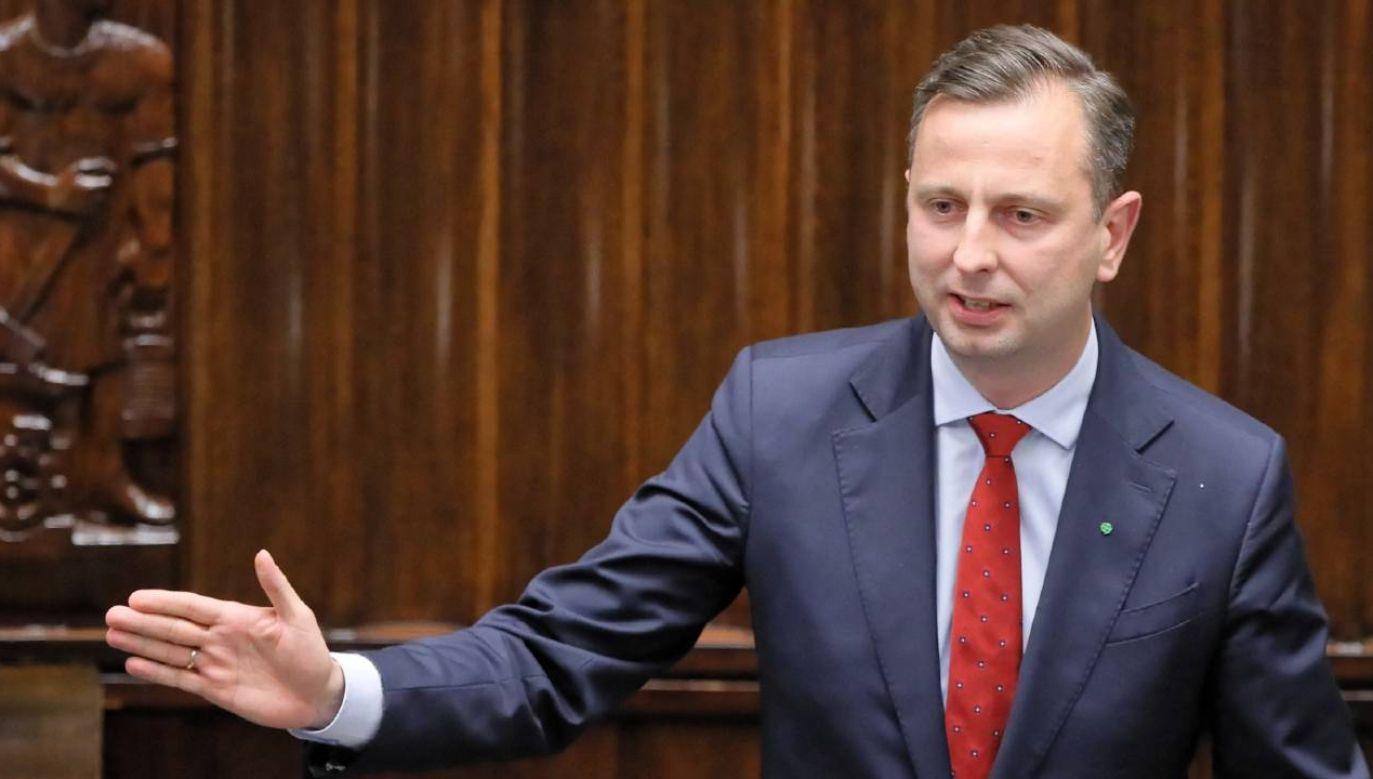 Prezes PSL Władysław Kosiniak-Kamysz (fot. PAP/ Pawł Supernak)