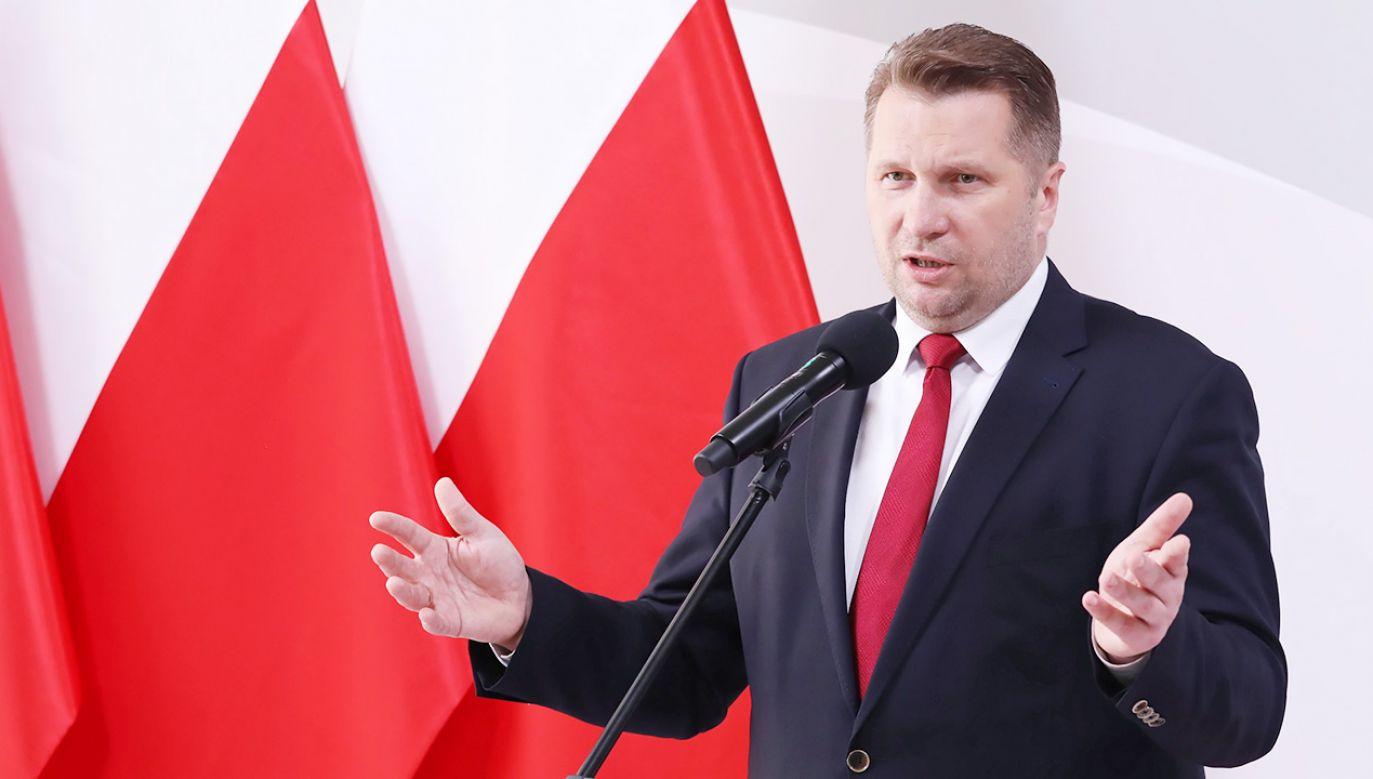 Minister Przemysław Czarnek: demoralizacja odbija się na rozwoju młodzieży (fot. PAP/Tomasz Gzell)