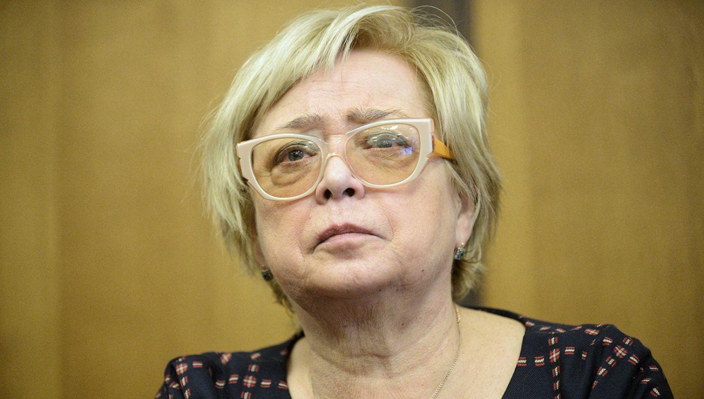 Prezes Gersdorf wzywa sędziów do powstrzymania się od orzekania. (fot. PAP/Marcin Obara)