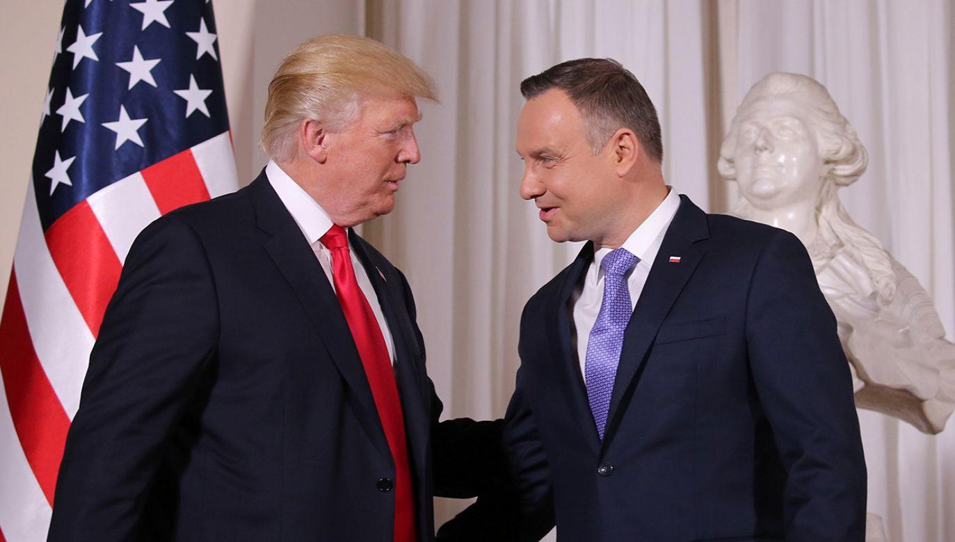 Prezydenci Stanów Zjednoczonych i Polski spotkają się w poniedziałek w Nowym Jorku (fot. REUTERS/Carlos Barria)