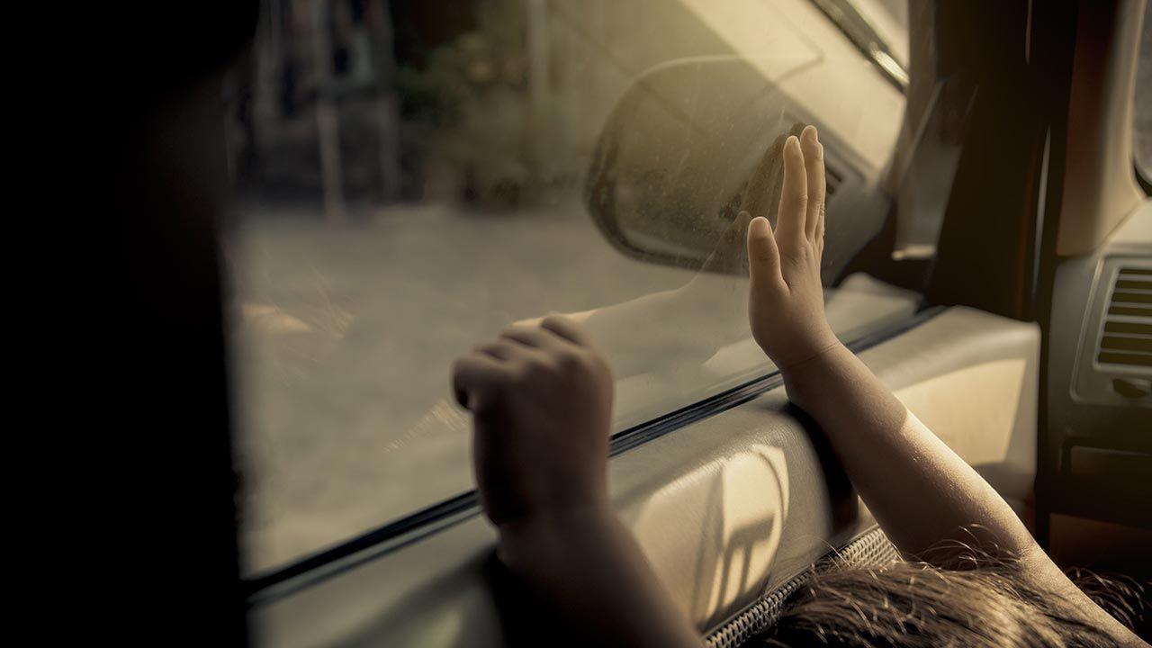 Według policji dziewczynka spędziła w nagrzanym samochodzie ponad godzinę (fot. Shutterstock/chalermphon_tiam)
