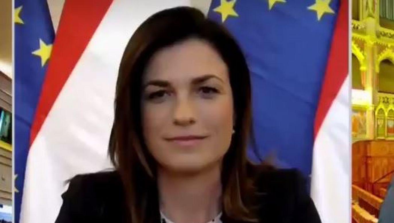 Judit Varga była gościem TVP Info (fot. TVP Info)