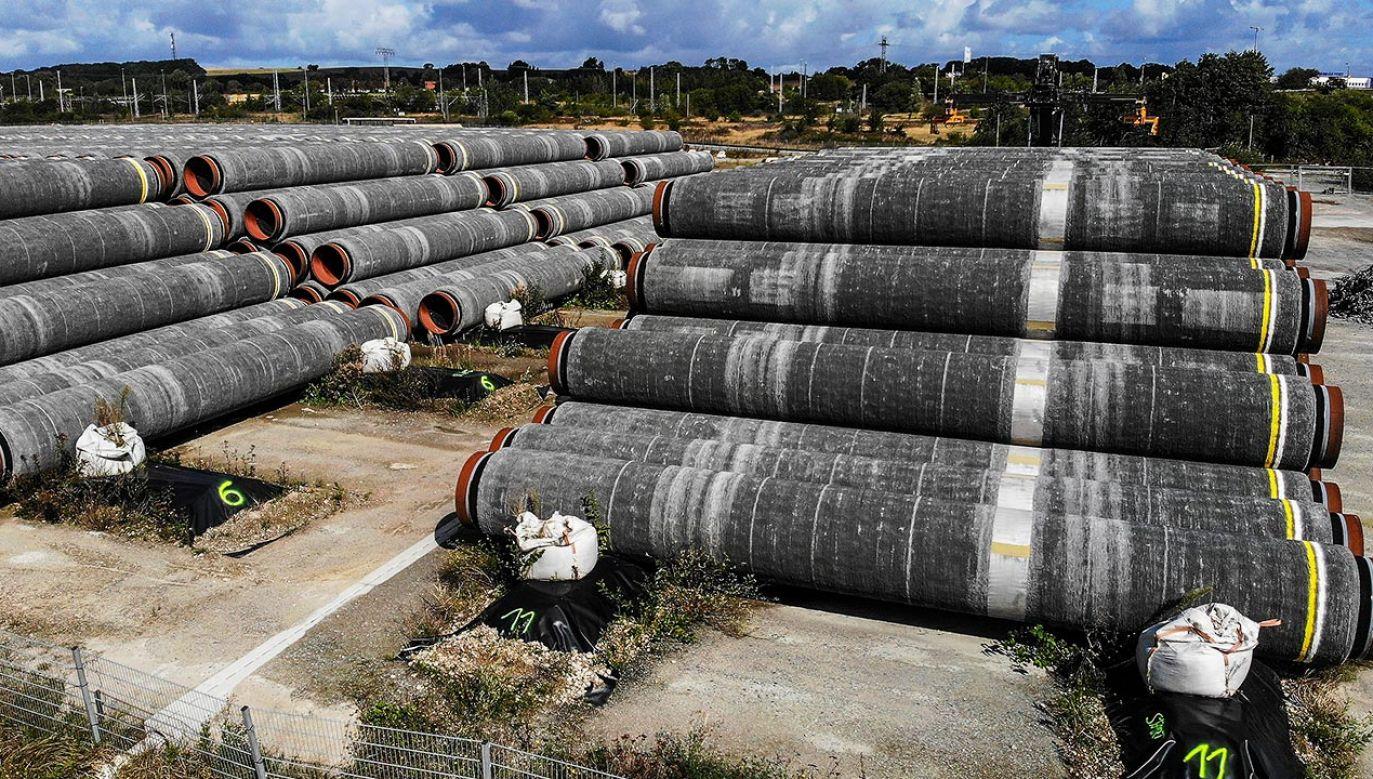 Berlin wciąż ma zamiar wspierać Rosję, poprze pozyskiwanie od niej surowca za pomocą Nord Stream 2 (fot. REUTERS/Hannibal Hanschke)