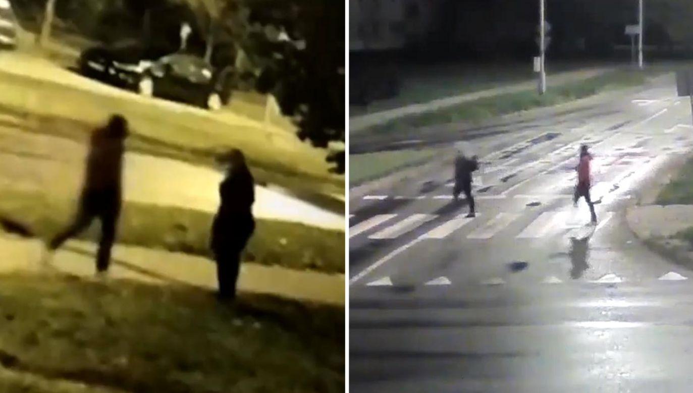 Nagrania z nocy zabójstwa 27-latka opublikowała policja w Olsztynie (fot. Policja)