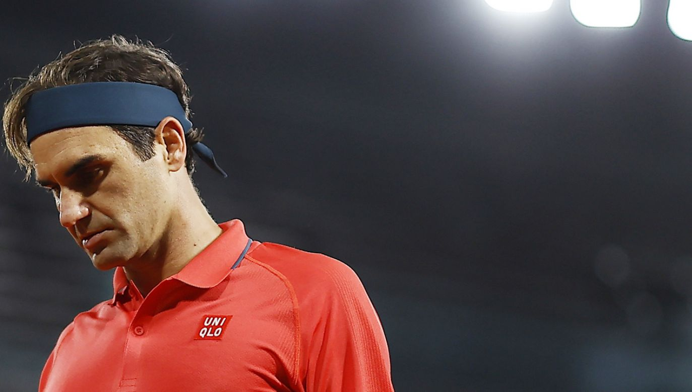 Federer w turnieju  French Open triumfował tylko w 2009 roku (fot. PAP/EPA/IAN LANGSDON)
