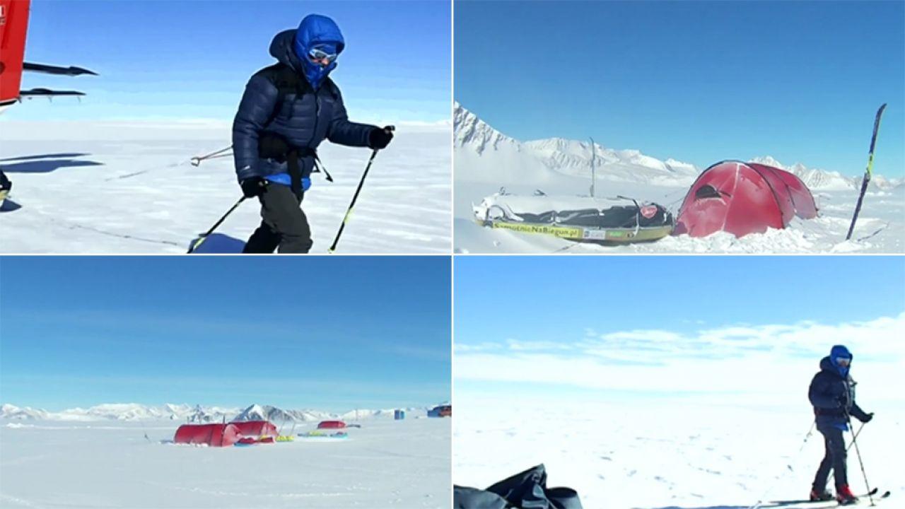 Marsz przez Antarktydę trwał 69 dni (fot. TVP)